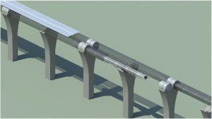 Hyperloop Capsule in Tube Cutaway