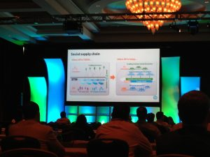 Photo of HP's Naresh Shanker's presentation at GT Nexus Bridges 2014