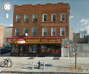 The bodega and building as it appears today (source: Google Maps)