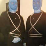 Ralph and Me (right) as Blue Men