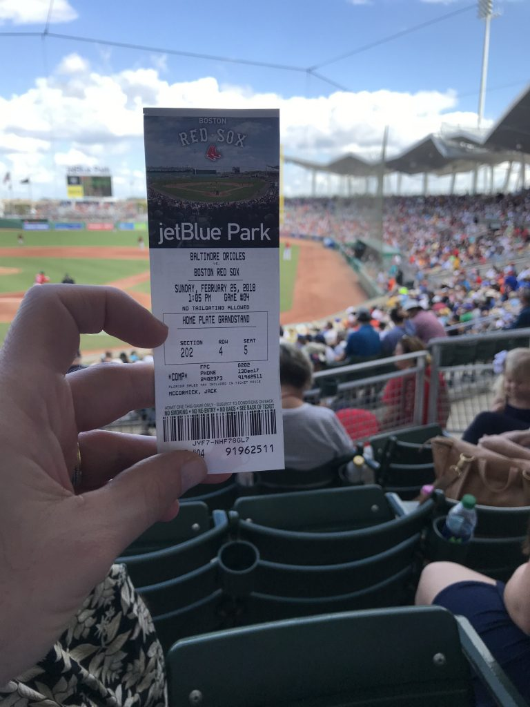 JetBlue Park Ticket