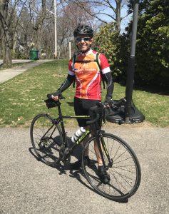 Adrian on bike