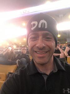 Adrian wearing Depeche Mode hat