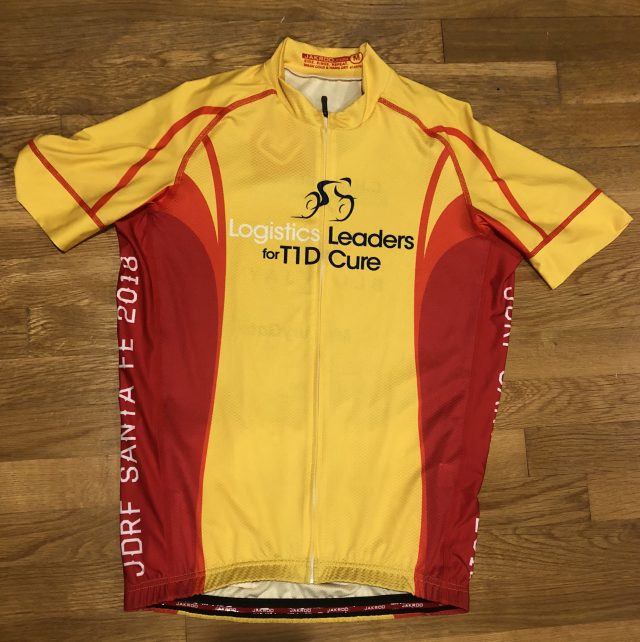 Logistics Leaders for T1D Cure team jersey