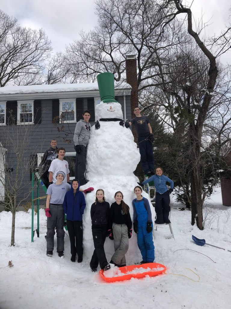 Photo of giant snowman