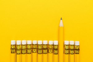Yellow Pencil Leadership Concept