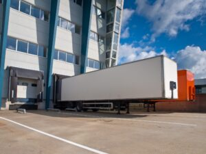 Distribution Center with Trailers Export concept