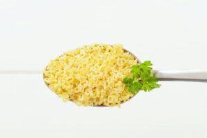 uncooked alphabet pasta