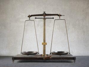 A vintage balance