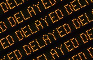 Delayed Sign Closeup