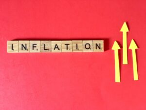 INFLATION on red background